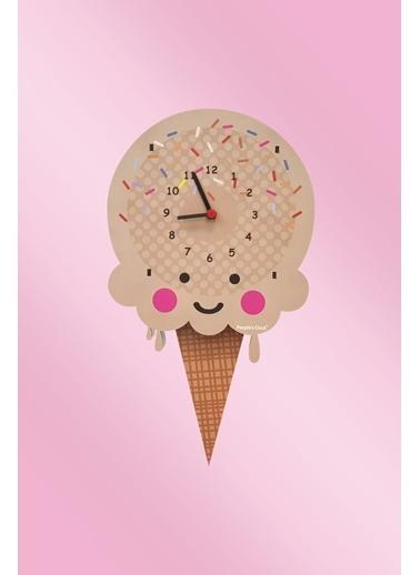 Peoples Clock Sade Dondurma Sallanan Sarkaçlı Çocuk Odası Duvar Saati Renkli